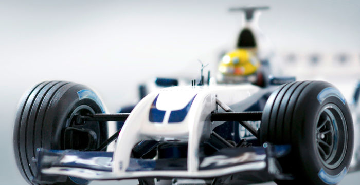 Formula 1 raceing car - parts of it are made out of Carbon Fibers.