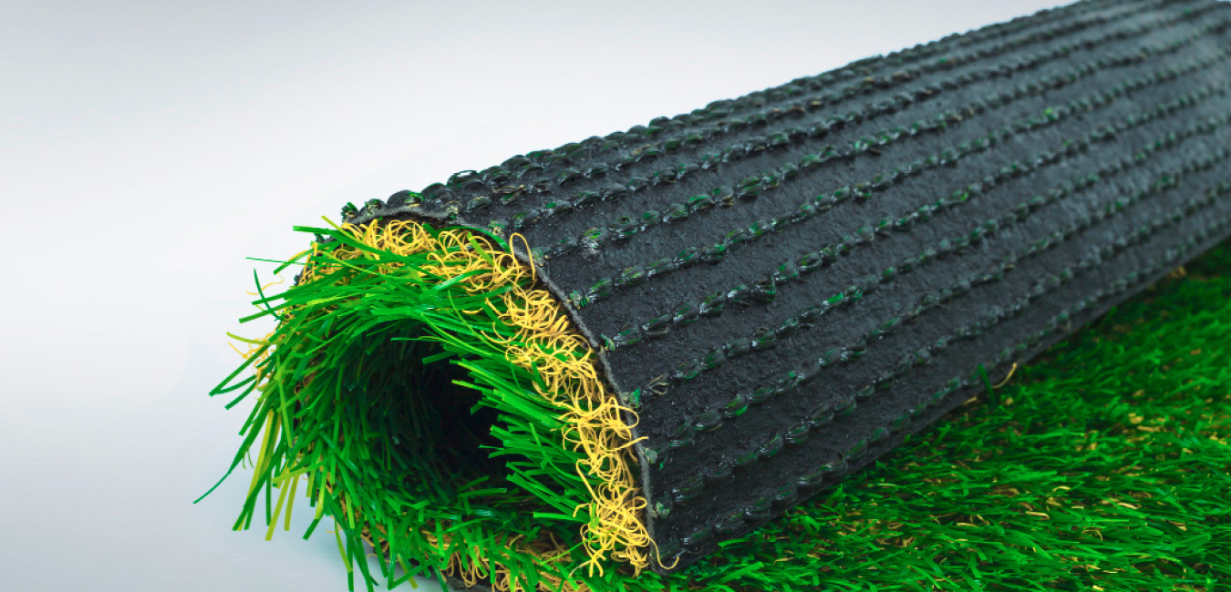 Piece of grass yarn