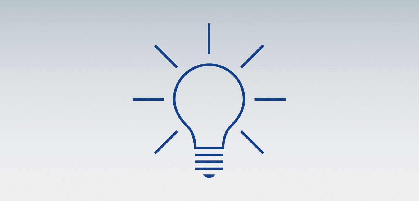 "Icon showing a bulb - as graphical representatation for the topic ""Expert assistance - For tricky issues"""