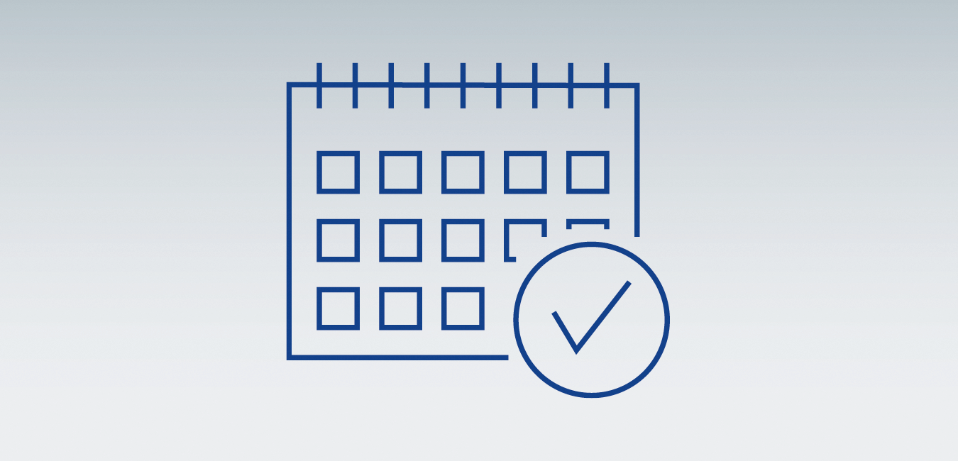 "Icon showing a calendar - as graphical representatation for the topic ""Maintenance agreements and planning - Planning availability"""